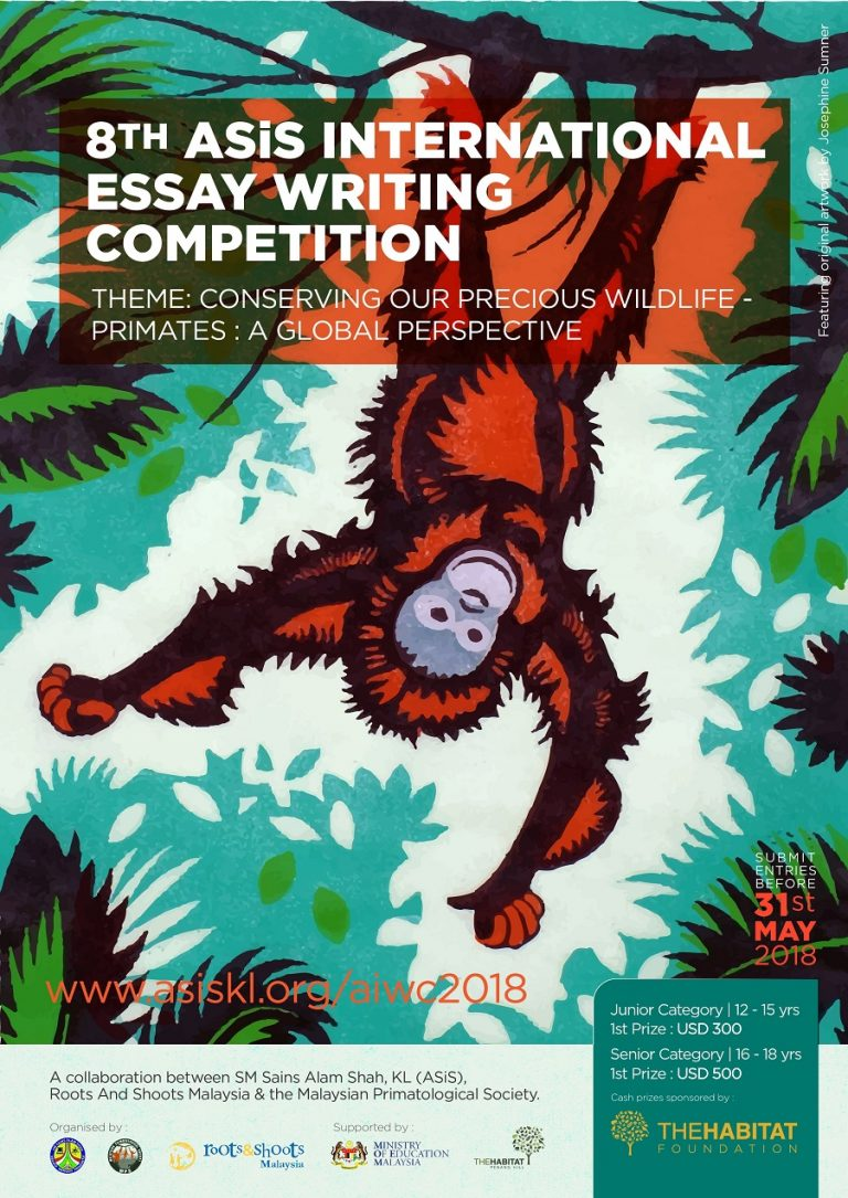 Attractive prizes to be won for essays on primates