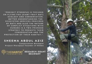 Project Pteropus – Dr Sheema Abdul Aziz of Rimba