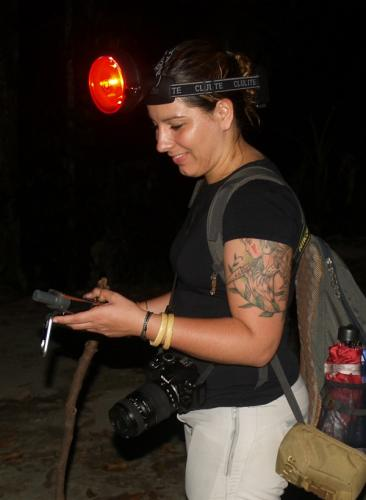 Priscillia Miard from Night Spotting Project demonstrated the appeal of nightwalks and the use of special instruments to spot nocturnal mammals.