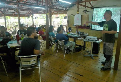 Training in session: In the MyChangkul training workshop participants learned how good design is the secret to  engineering forest trails to withstand the high rainfall of the Malaysian rainforest.