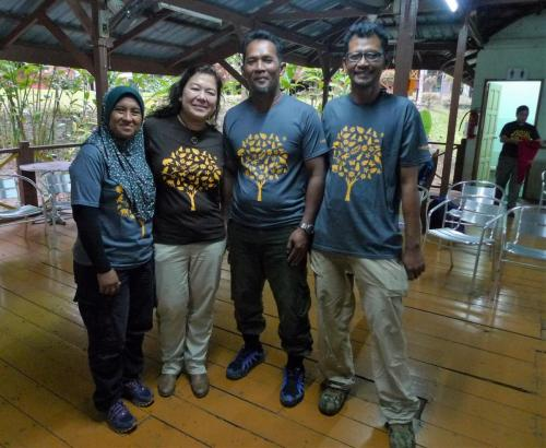 Some of the participants at the trail building workshop, such as Othman Ayeb and Aiyu had come all the way from Langkawi to join in.